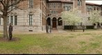 Wendy on a Windy Day in Front of Keck Hall - a 360-Degree Panorama