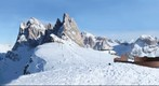 Italy, Dolomity. View from Seceda mountain