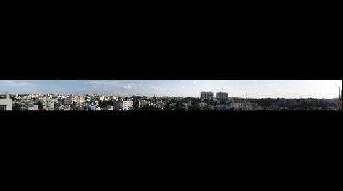 A popular south bangalore locality, as seen from my terrace