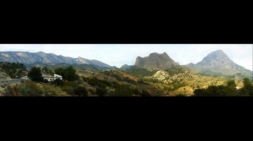 Orxeta - montaña pasado Orxeta hacia Relleu / Sella