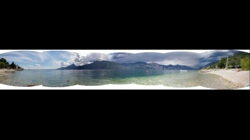 Panorama Lago di Garda da Navene