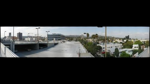 The Hollywood Sign as seen from the Sunset/Gower Lot.