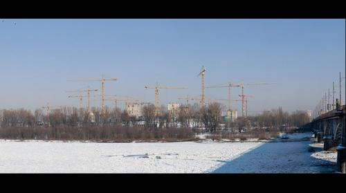 Building the National Stadium in Warsaw (Poland)  05.02.2010