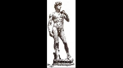 Chocolate chip - Michelangelo's David