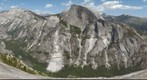 Looking across Tenaya Canyon from North Dome at the face of Yosemite's Half Dome