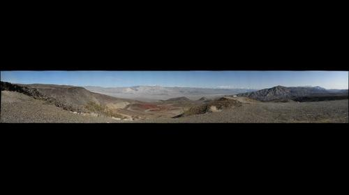 View from Rainbow Canyon over the Panamint Valley