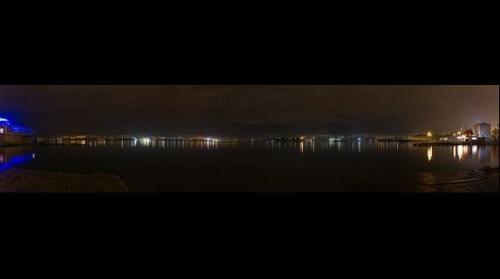 Sevastopol bay at night