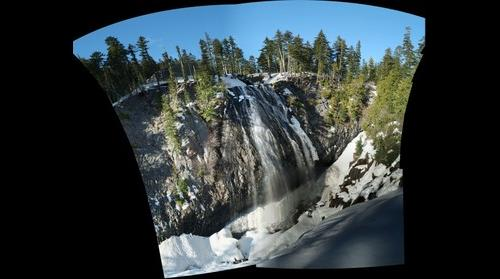 168-foot Narada Falls during winter, Mount Rainier National Park, Washington