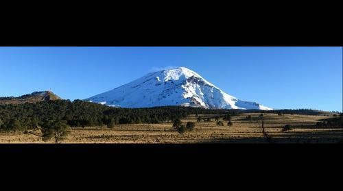 Volcán Popocatepetl desde Paso de Cortés