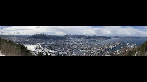 View of Bergen from the viewpoint on Fl�yen