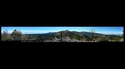 Vista de los Valles de Mexico y Toluca desde el cerro de San Miguel