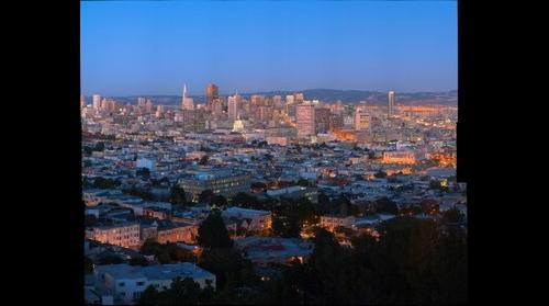 San Francisco downtown by night