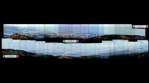 Vista del valle y ciudad de Mexico desde San Miguel, Parque Nacional del desierto de los Leones.
