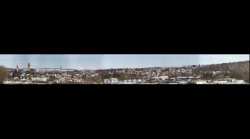 Blick über Korbach vom Schanzenberg ( Panorama of Korbach, Germany)