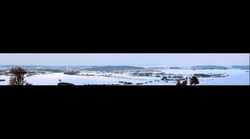 Blick über Korbach vom Klusenberg (Panorama of Korbach from Klusenberg, Germany)