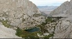 View of Main Mount Whitney trail between Mirror Lake, Bighorn Park, and Lone Pine Lake