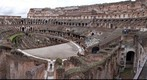 Interiour of Colosseum in Rome Italy