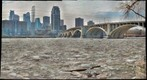 Ice floes, Mississippi River at Minneapolis