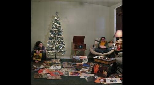 Bethanne Lenhart with her record collection