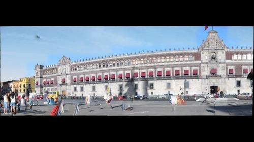 Vista Parcial del Palacio Nacional, Ciudad de México