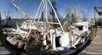Stripping a Shrimp boat of Equipment, Brunswick, GA