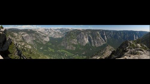 View from Eagle Peak of Yosemite Valley
