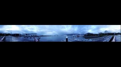 Australia, Cairns Marina at rainy afternoon