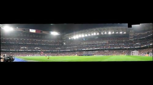 Real Madrid - Atlético de Madrid. Vista desde el fondo Sur