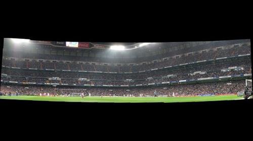 Real Madrid - Atlético de Madrid. Vista desde el fondo Norte