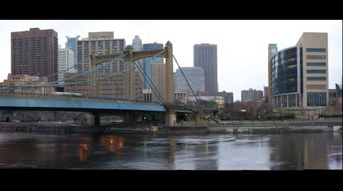 Minneapolis, MN SW View looking at Hennepin Bridge