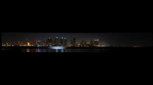 San Diego at night from Harbor Island
