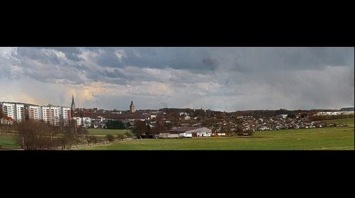 Panorama of Korbach, Germany