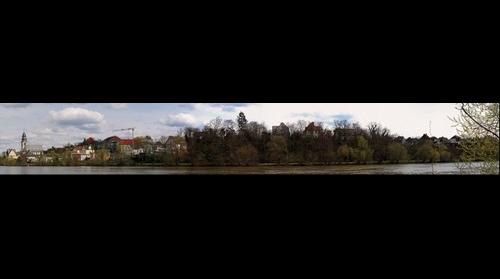 Panorama of Frankfurt-Kelsterbach, Germany
