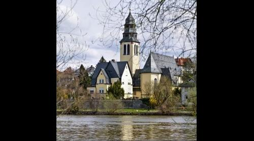 "Catholic ""Herz-Jesu"" Church in Frankfurt am Main - Kelsterbach, Germany"
