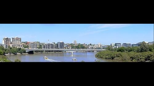 Brisbane Southbank and Captain Cook Bridge