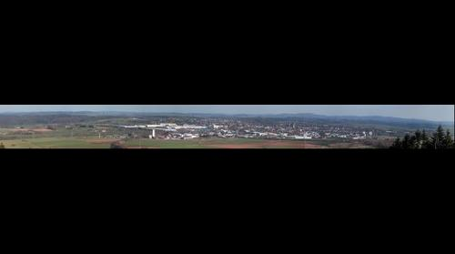 Panorama of Korbach from Flachskamp (572m ASL), Germany