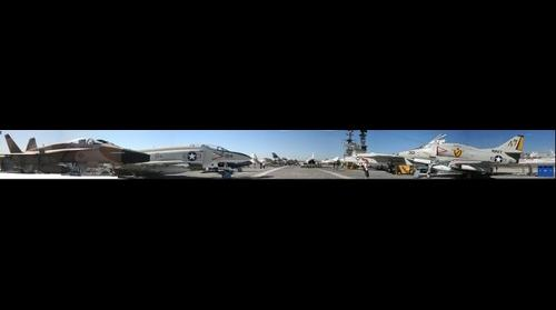 Flight deck of USS Midway at San Diego, CA