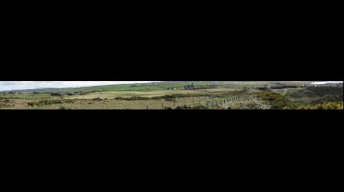 Panoramic View of the landscape near giant's causeway