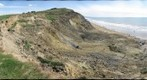 Charmouth landslide April 2009