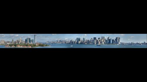 Ellis Island & New York City Skyline