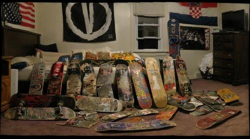 What's left of my skateboard collection