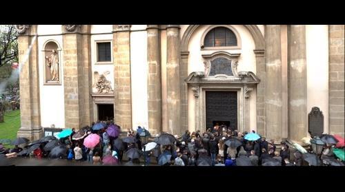 Mass in St.Anna church in Krakow