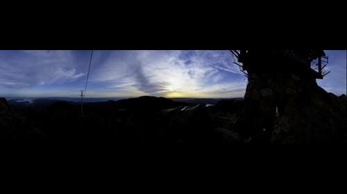 Sunset from Mount Tamalpais, 7:06pm