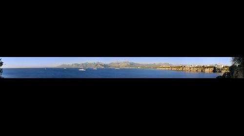 Gulf Of Antalya And The Bey Mountains Skyline