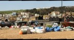 Hastings Beach &amp; Fishermen&#39;s boats &amp; Net Drying Huts -  Comparison test