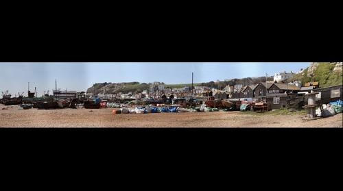 Hastings Fishermen's huts & boats