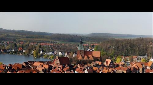 Mölln - Weiter Blick vom Wasserturm zur Altstadt