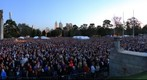 ANZAC Day Dawn Service Crowd at the Melbourne Shrine of Remembrance, Apr 25, 2010 (6:26 to 6:30am)