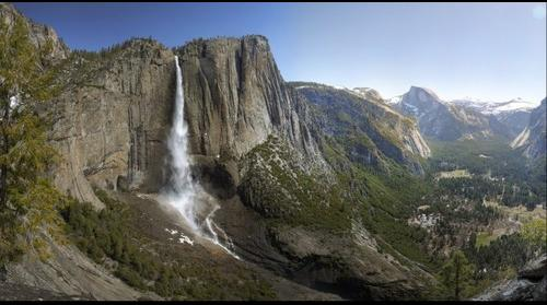 Yosemite Falls, Yosemite Valley & Half Dome