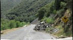 Route 140 Rock Slide from South Barricade